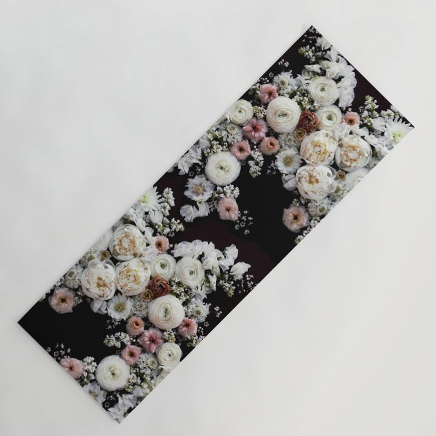 Flowers yoga mat