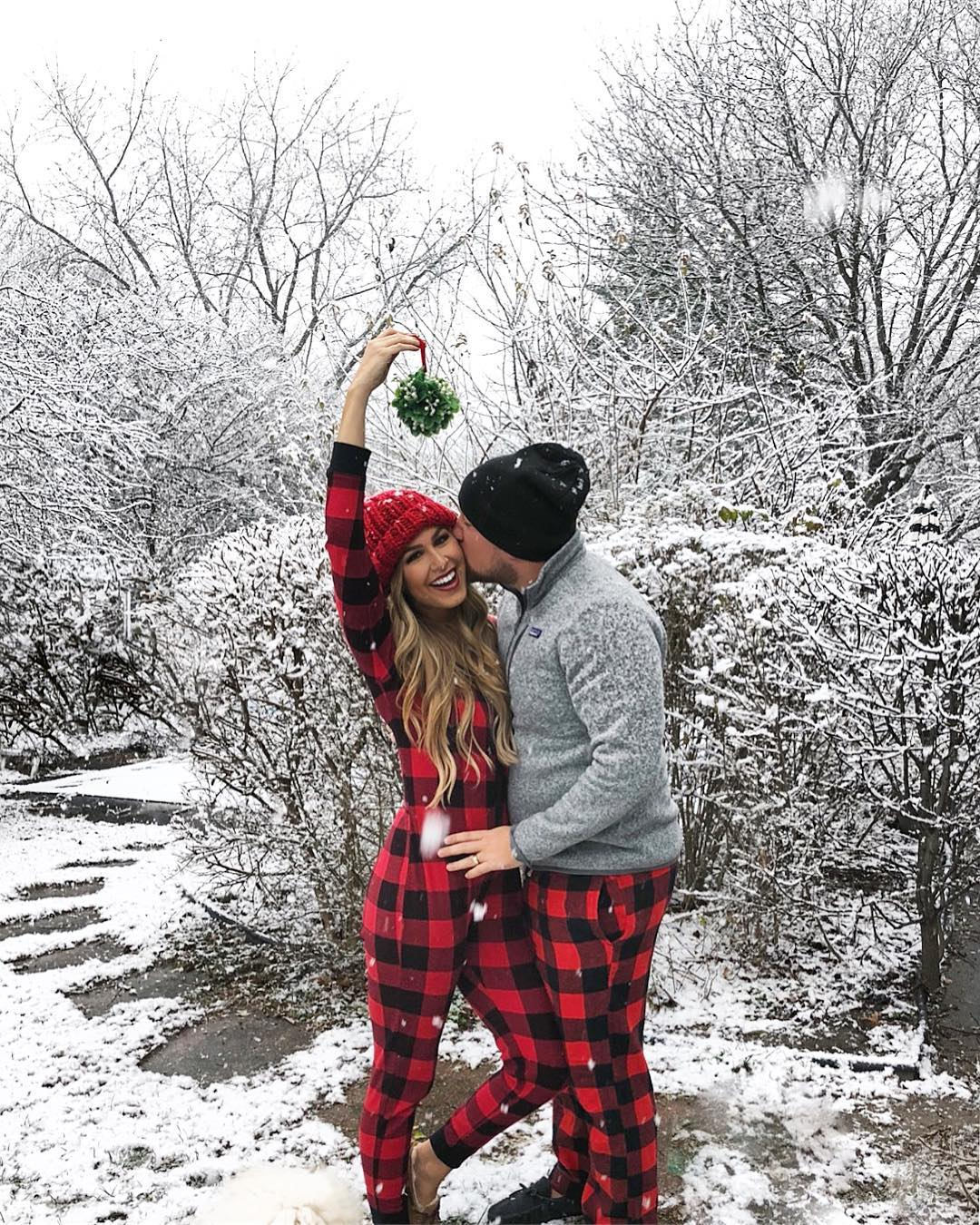 These Holiday Pajamas for Couples + Kids Are Still in Stock but Going Fast!