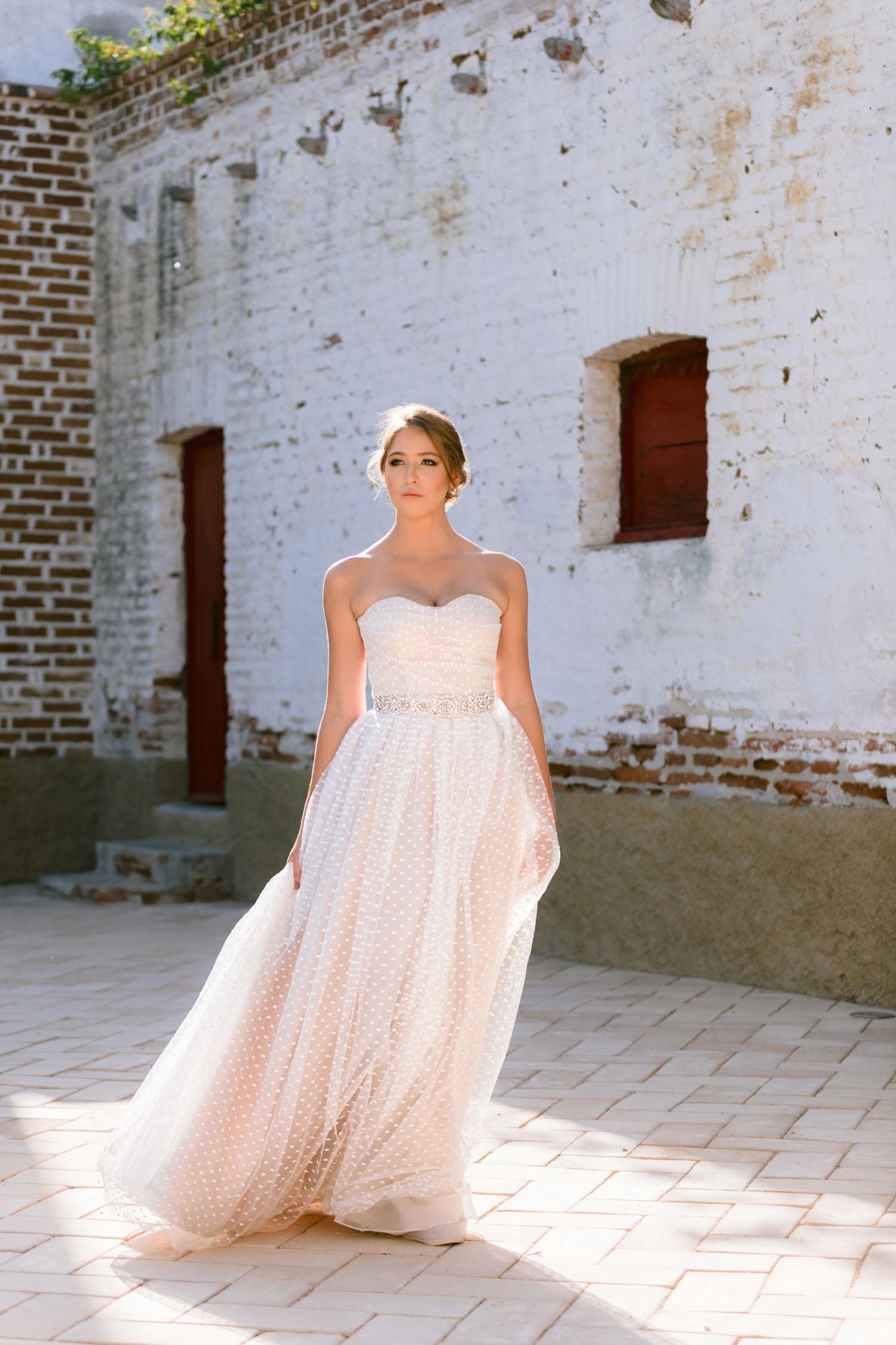 trägerloses Hochzeitskleid