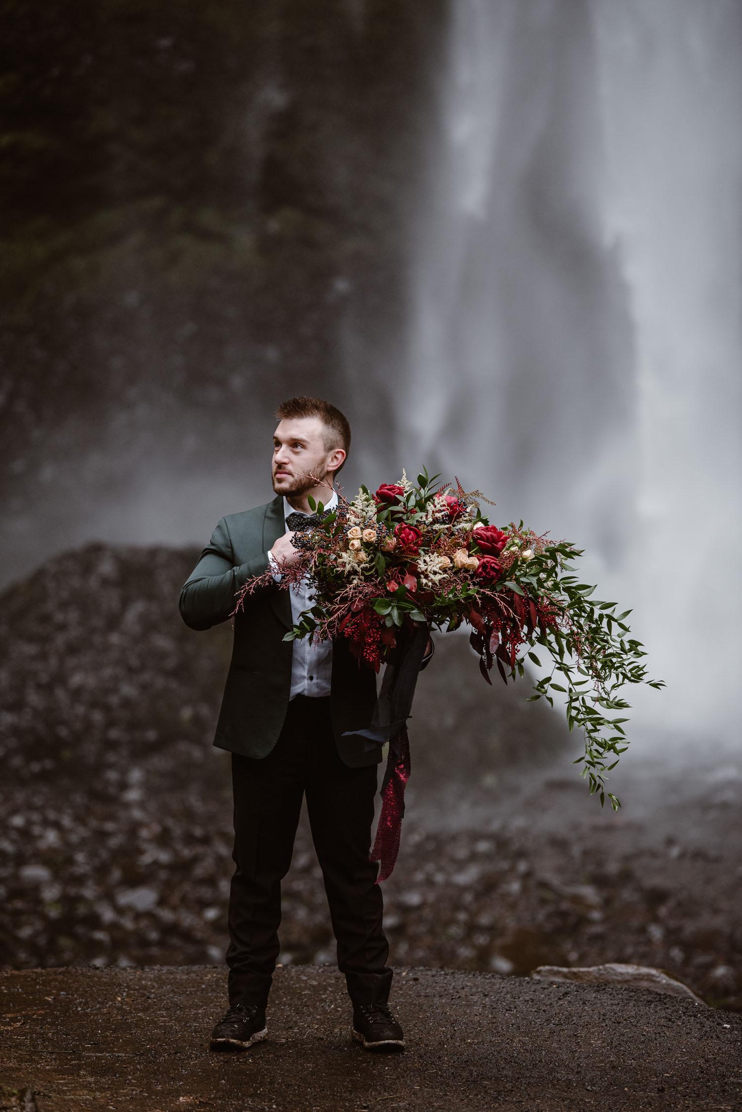 grüner Bräutigam Anzug