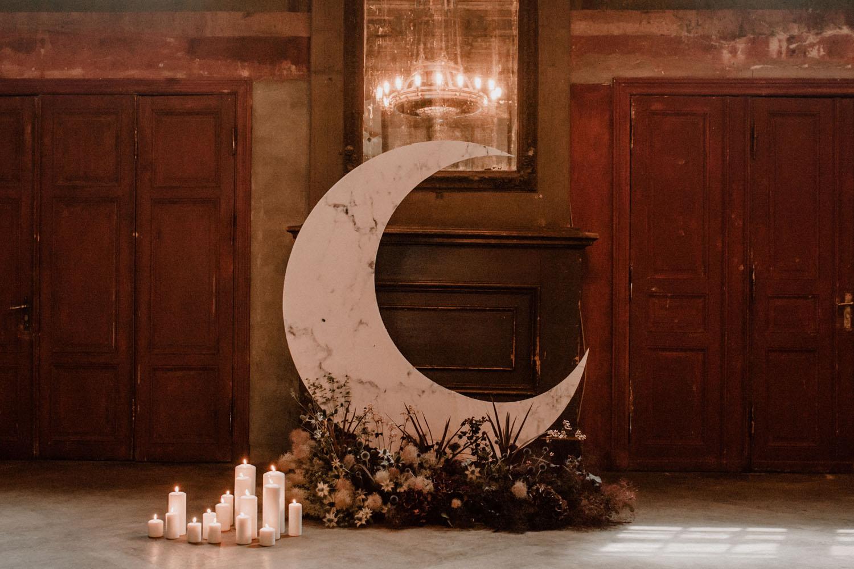 moon ceremony backdrop