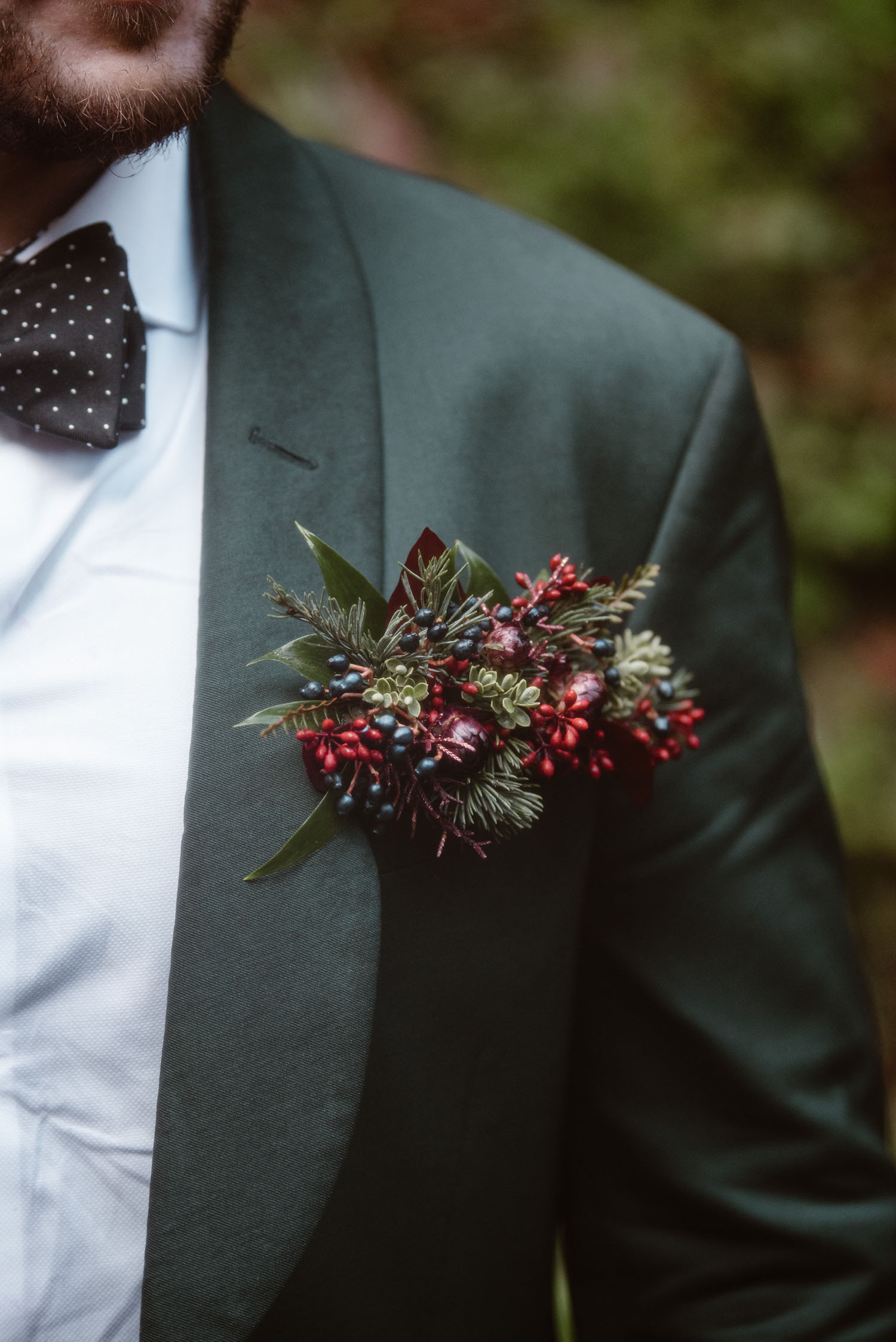 Christmas boutonniere