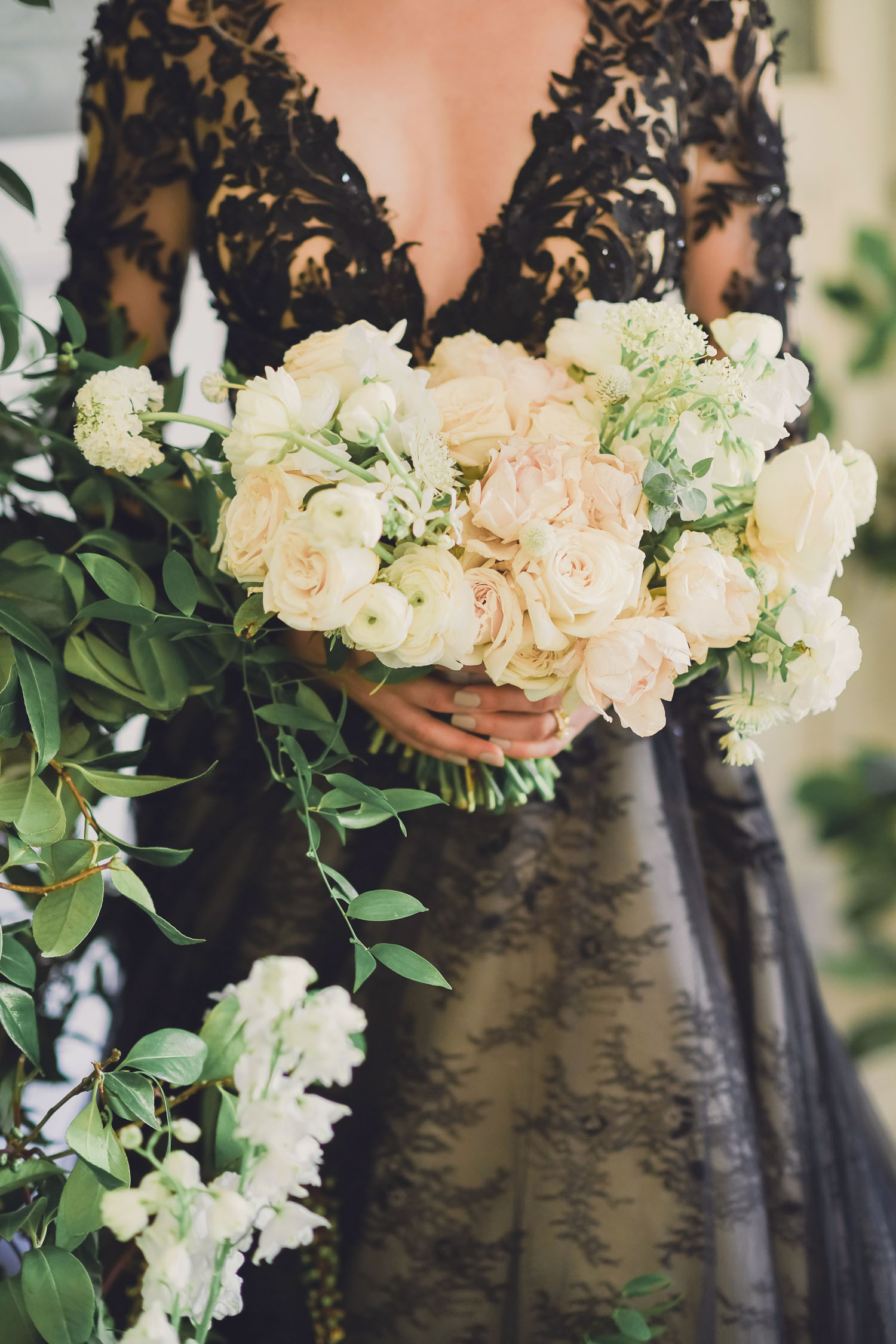 bouquet de renoncules blanches