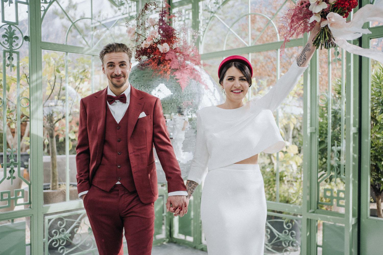 Disco ball wedding inspiration