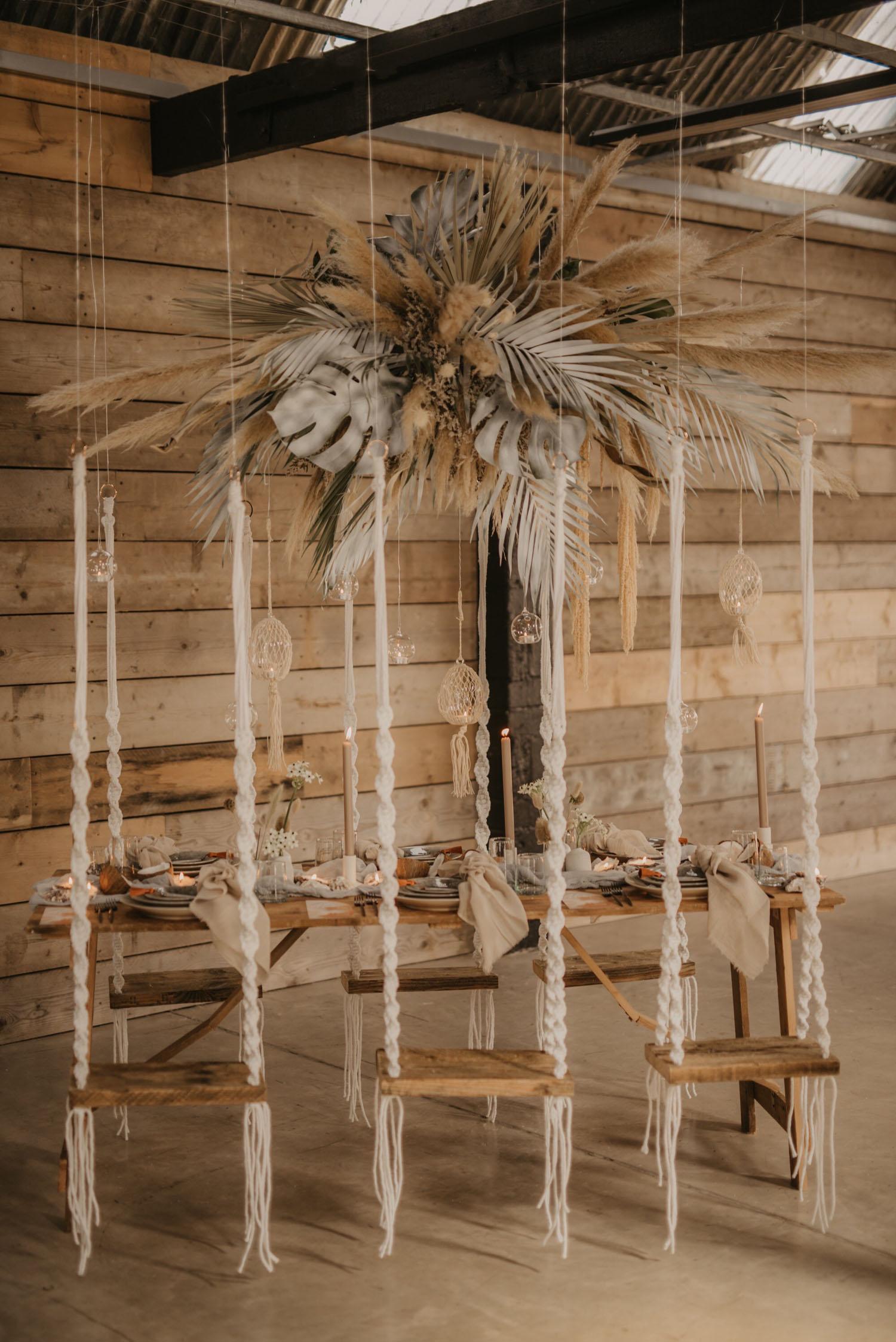 macramé wedding backdrop
