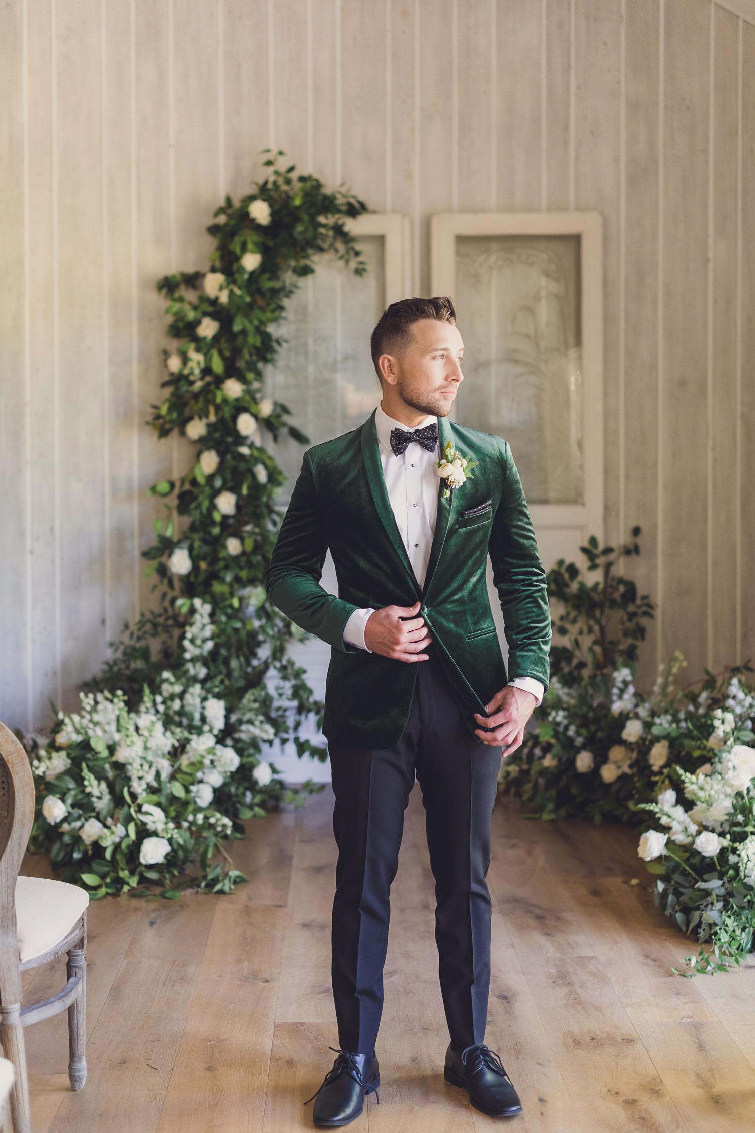 veste en velours vert