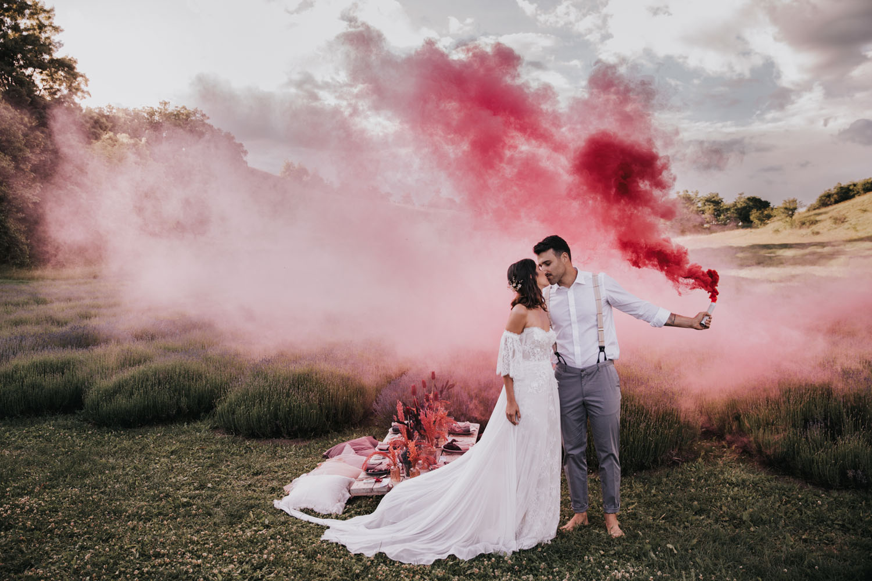 Lavender Field Elopement Inspiration