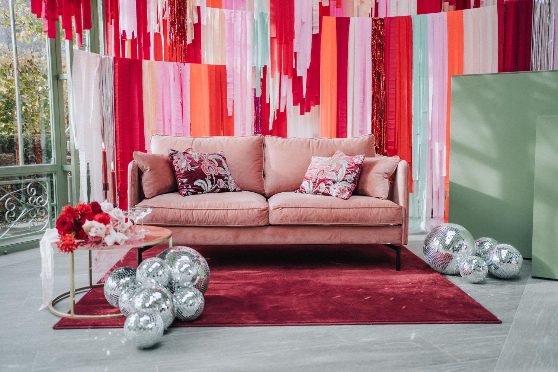 fabric backdrop lounge