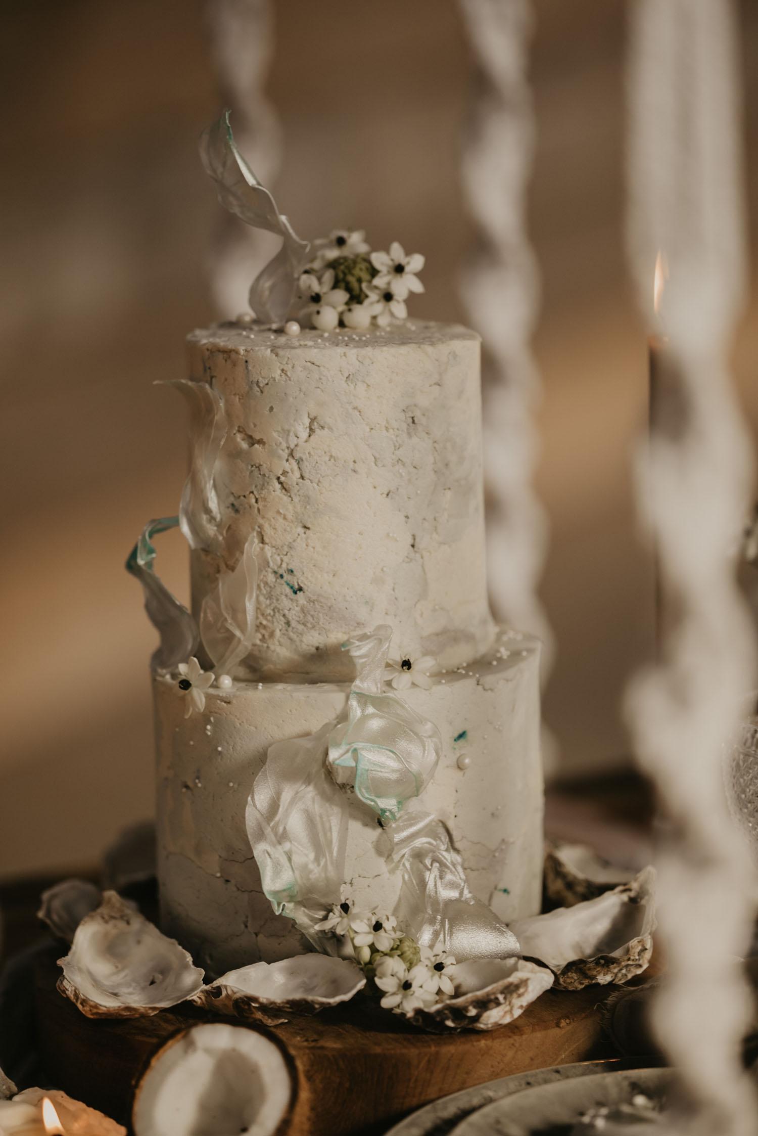 beach inspired cake