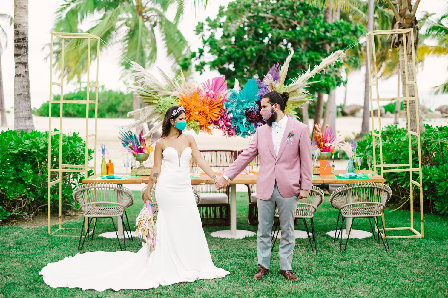 Rainbow Coastal Wedding Inspiration
