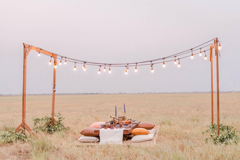 open field wedding
