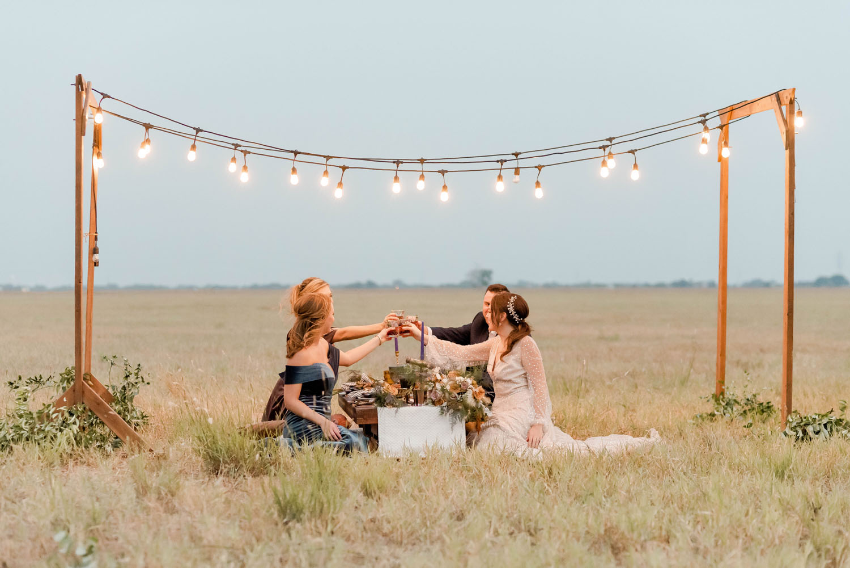 low-profile table wedding reception