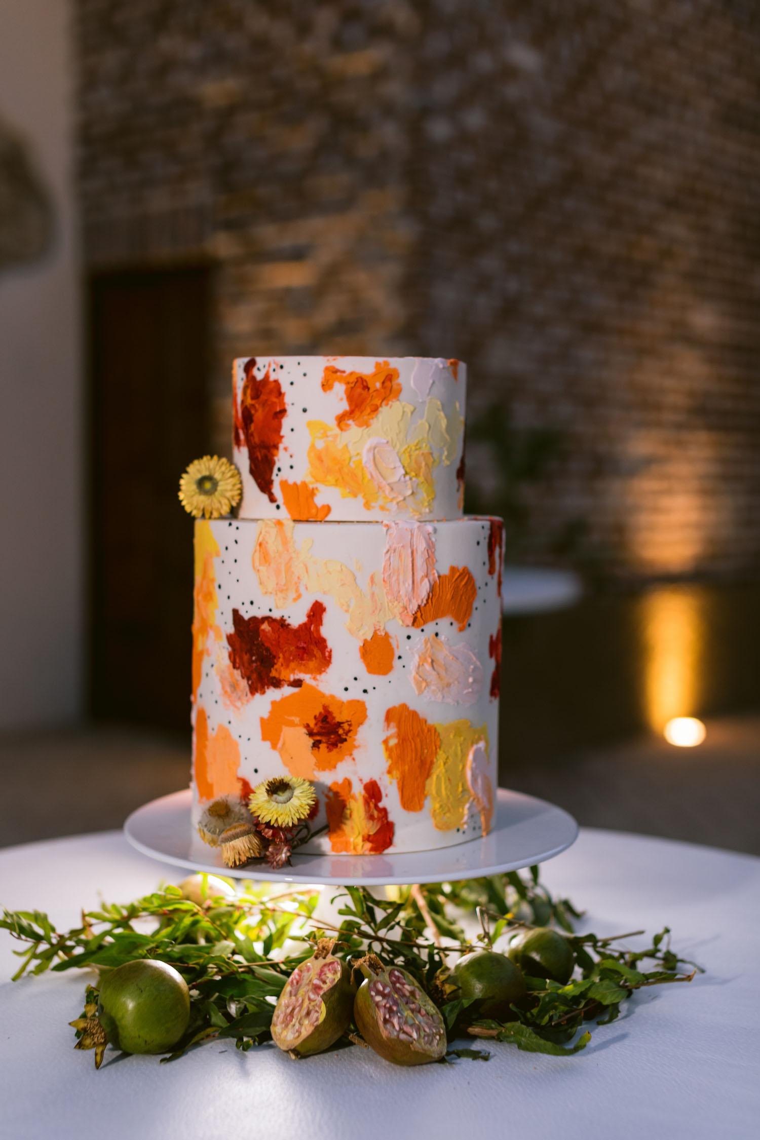 painterly wedding cake