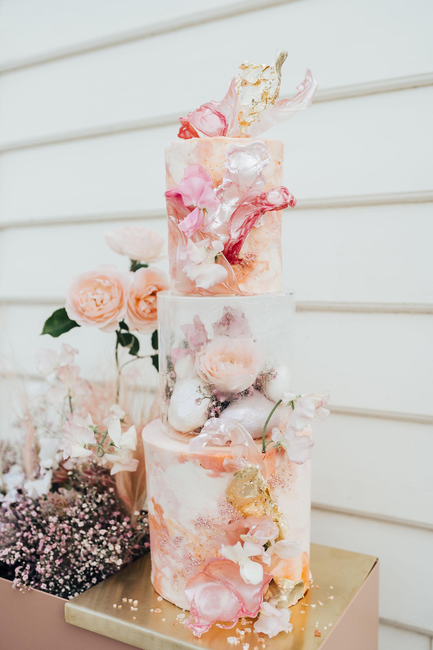 gâteau de mariage aquarelle