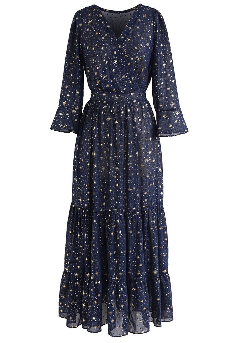 Navy Dress With Stars