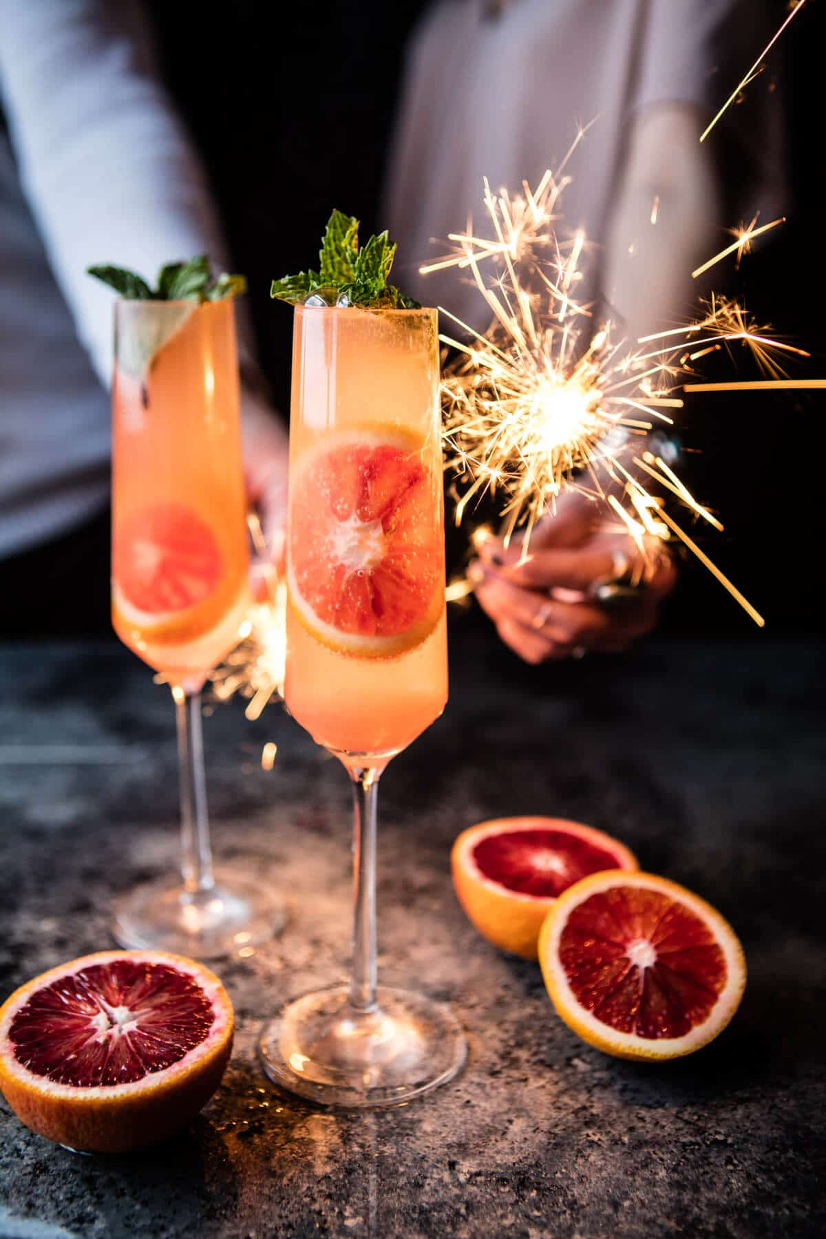 blood orange champagne mule from half baked harvest