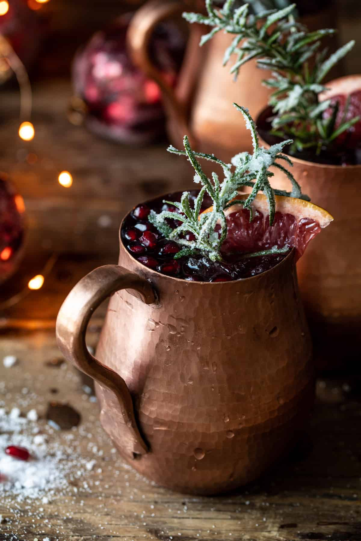 pomegranate champagne mule from half baked harvest
