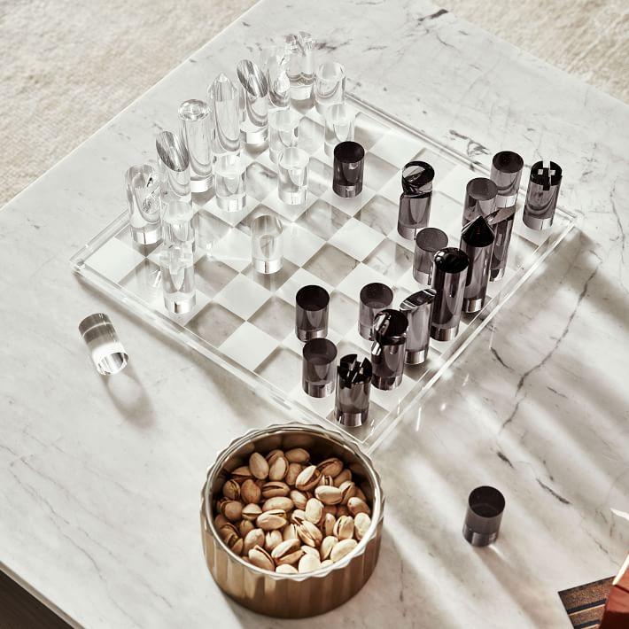 Glam acrylic chess board
