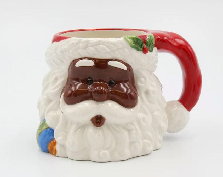 Black Santa Mug