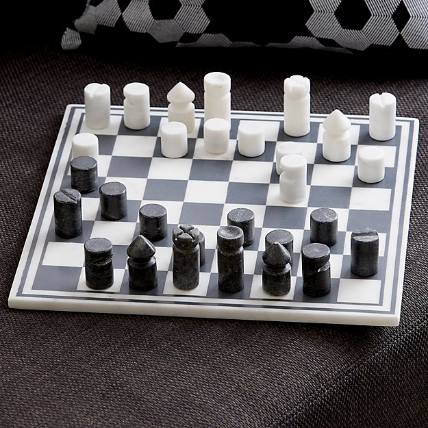 black and white marble chess board