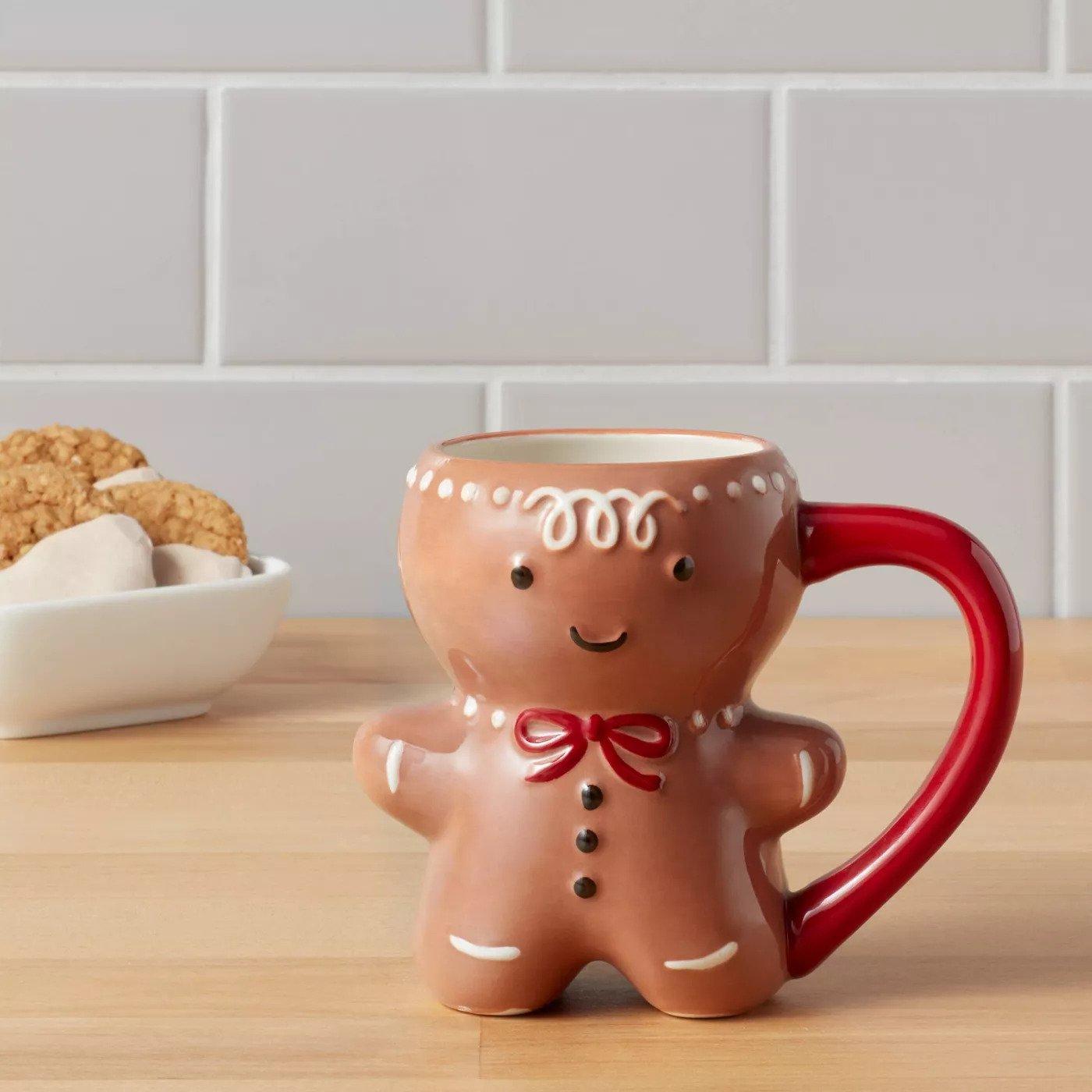 Gingerbread Man Coffee Mug for Christmas