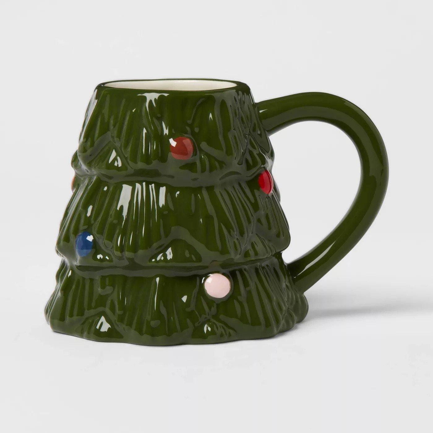 Christmas Tree Shaped Coffee Mug