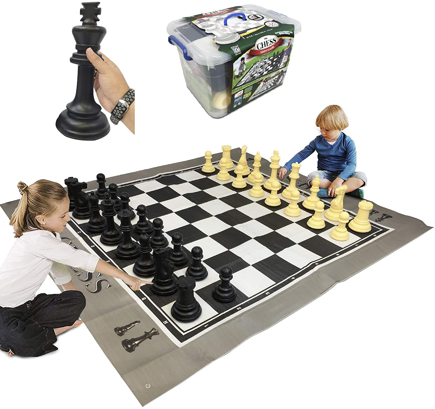 Giant chess for indoors or outdoors