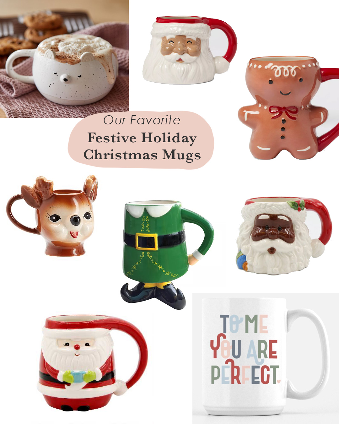 New Festive Holiday Christmas Mugs For An Affordable Gift Idea Green Wedding Shoes