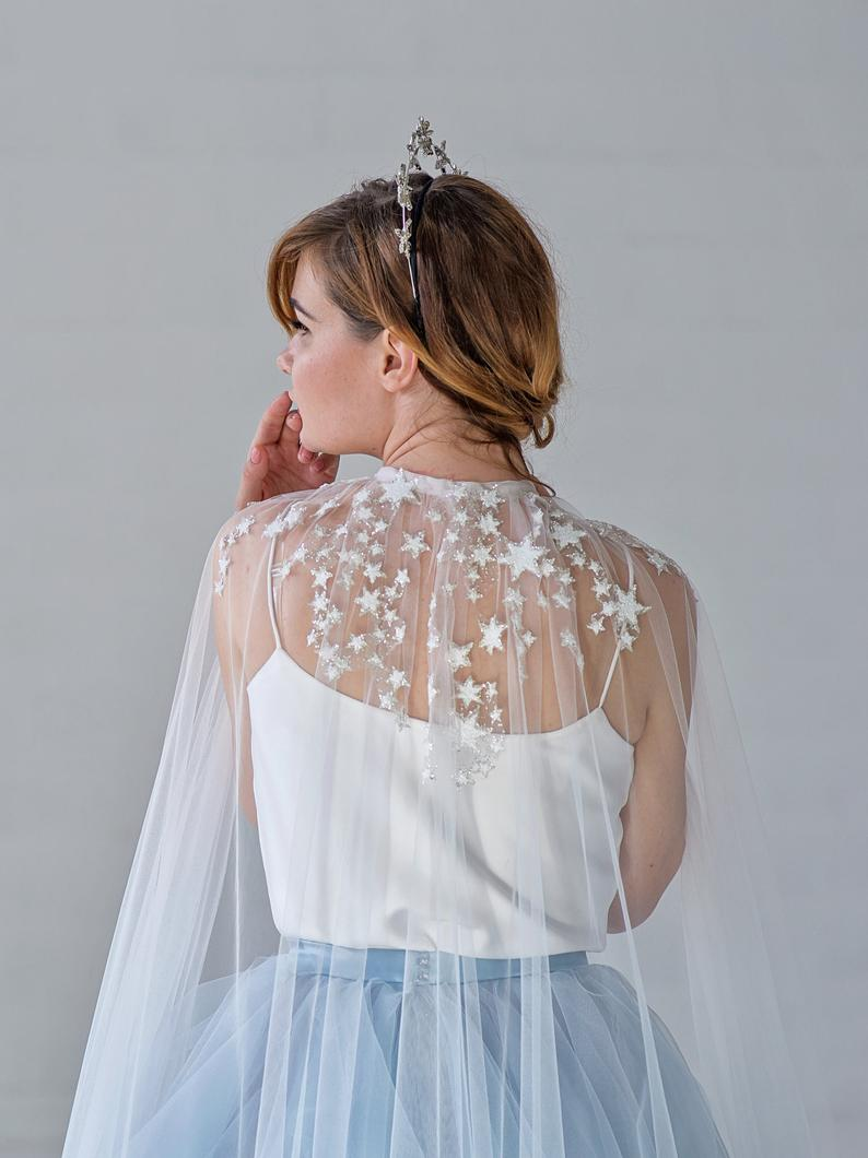 Bridal Cape with stars