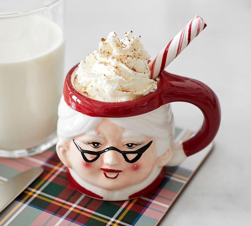 mrs claus christmas mug