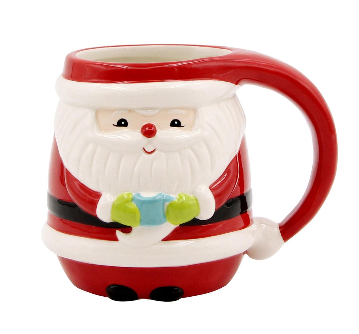 Red Jolly Santa Mug
