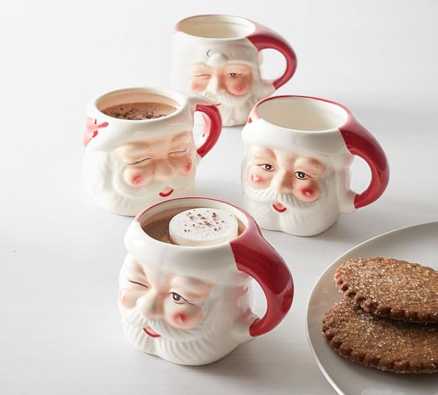 Ceramic Santa Mug