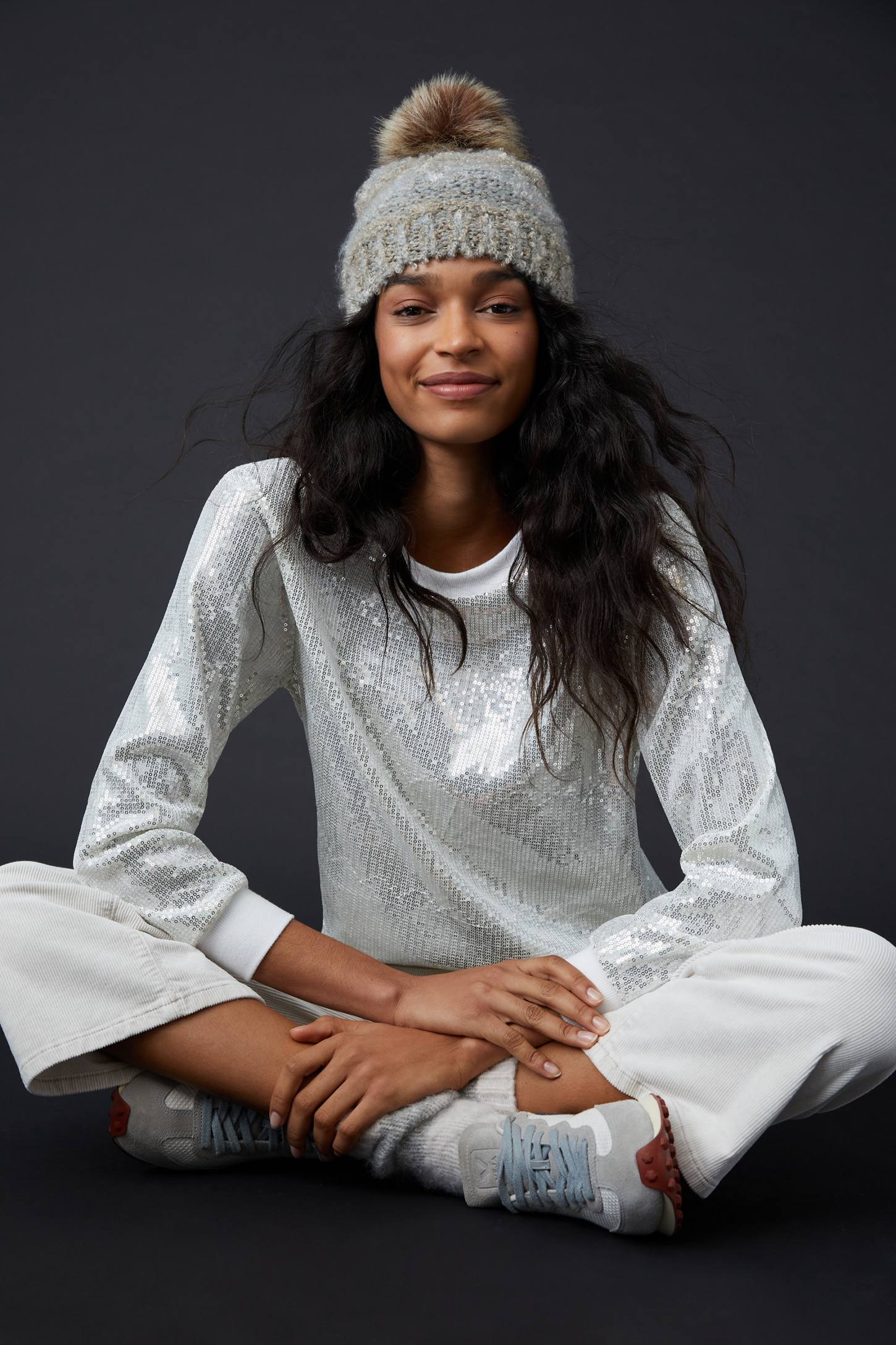 silver sequin sweatshirt