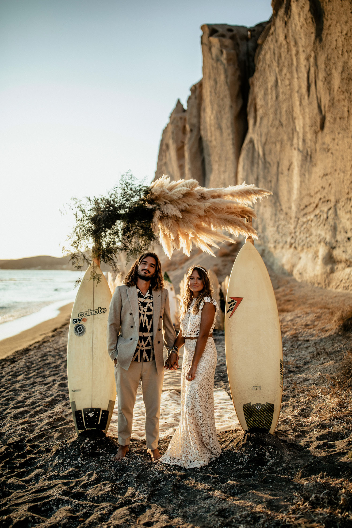 Boho-Chic Surfer Wedding Inspiration