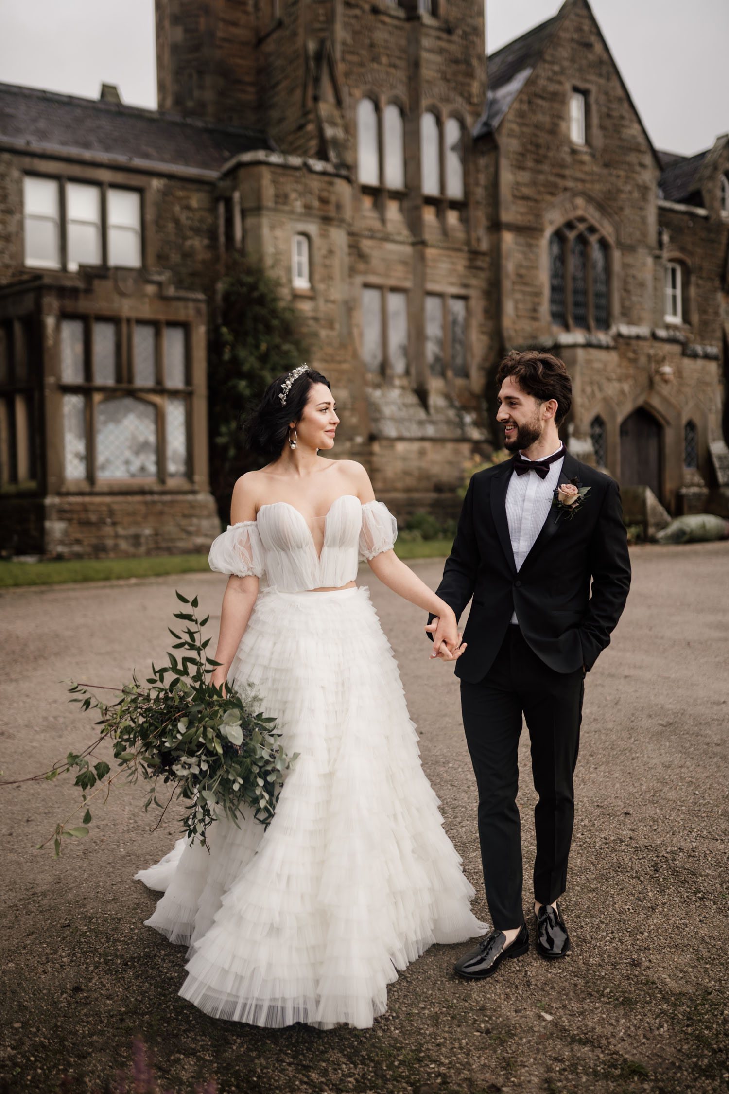 Luxe + Moody Winter Wedding Inspiration Near a Royal Family Retreat