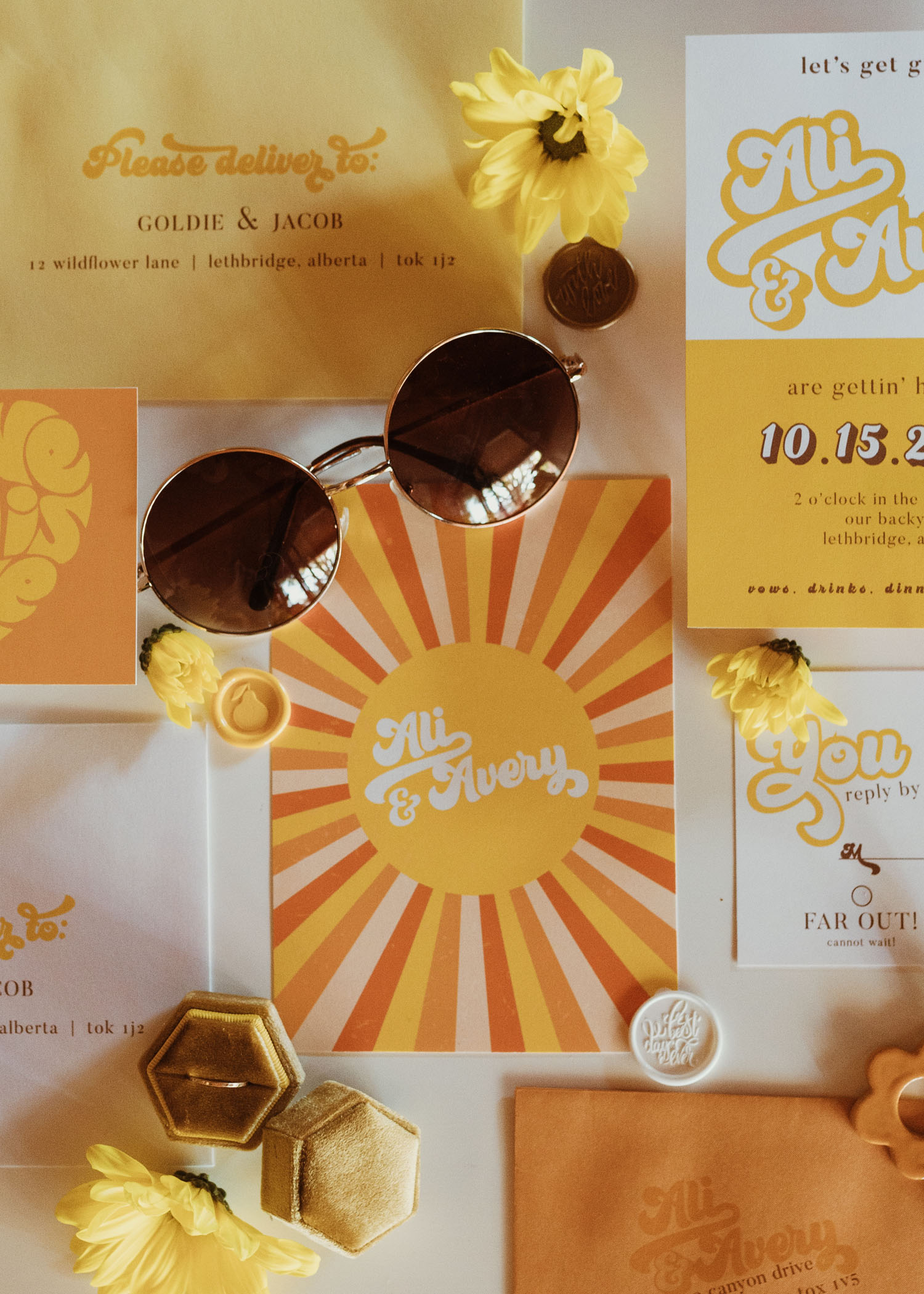 70s inspired invitation