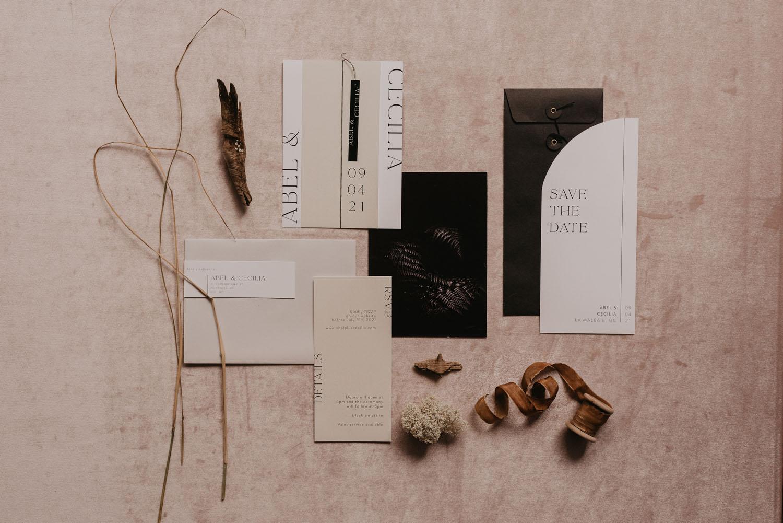 modern monochrome invitation