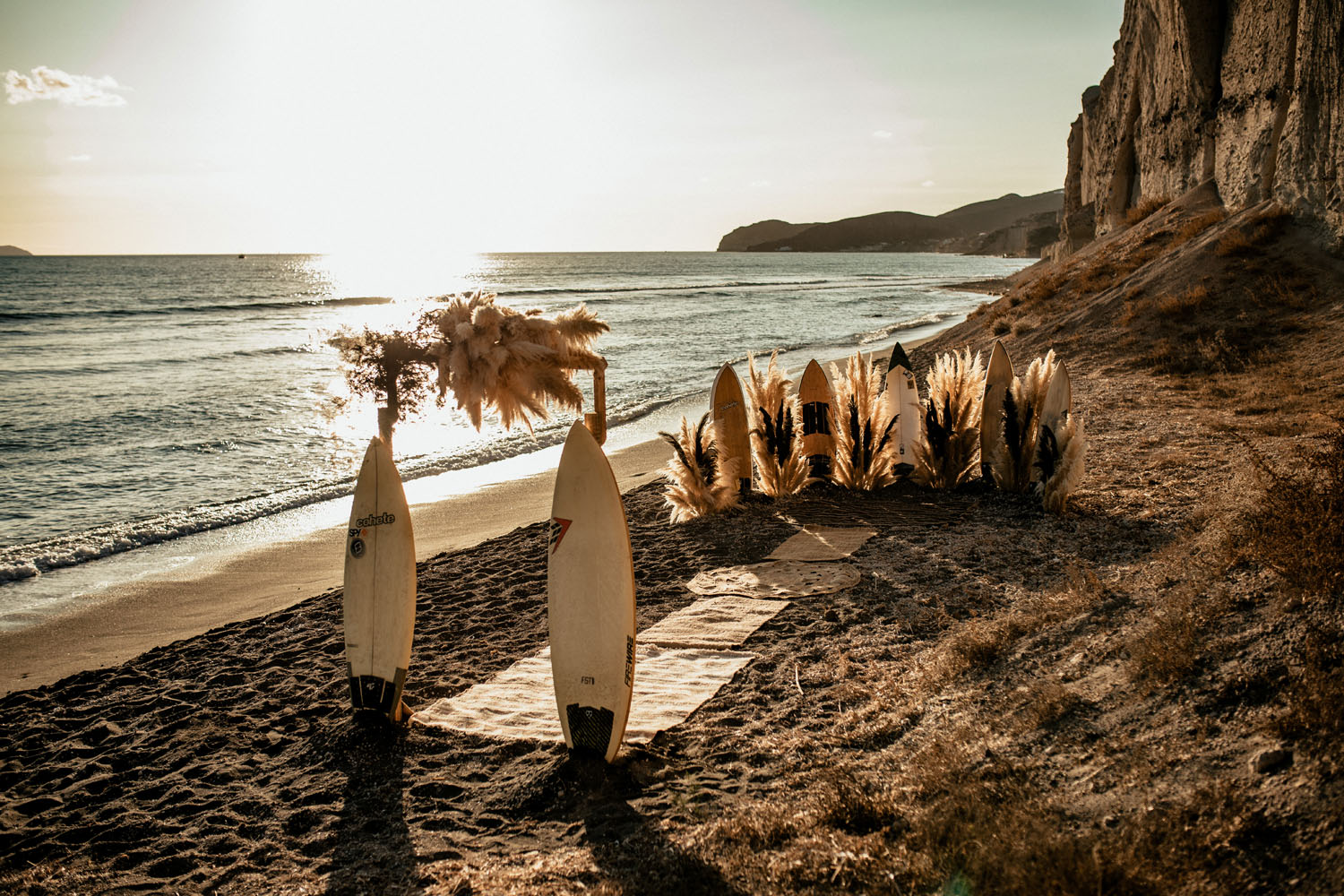 surfboard ceremony decor