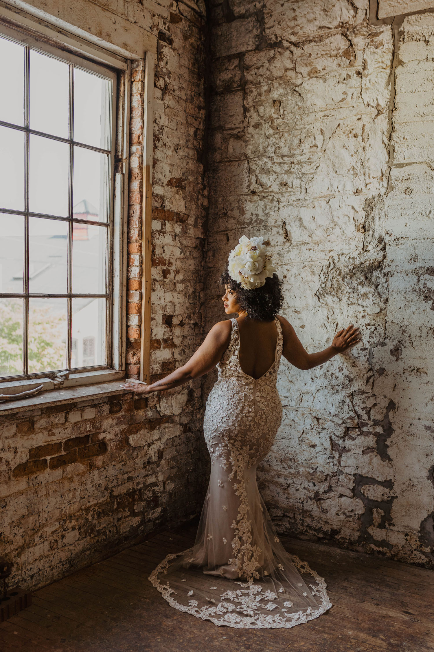 Three Boho-Vintage Brides Showing Off Gorgeous Black Wedding Hairstyles