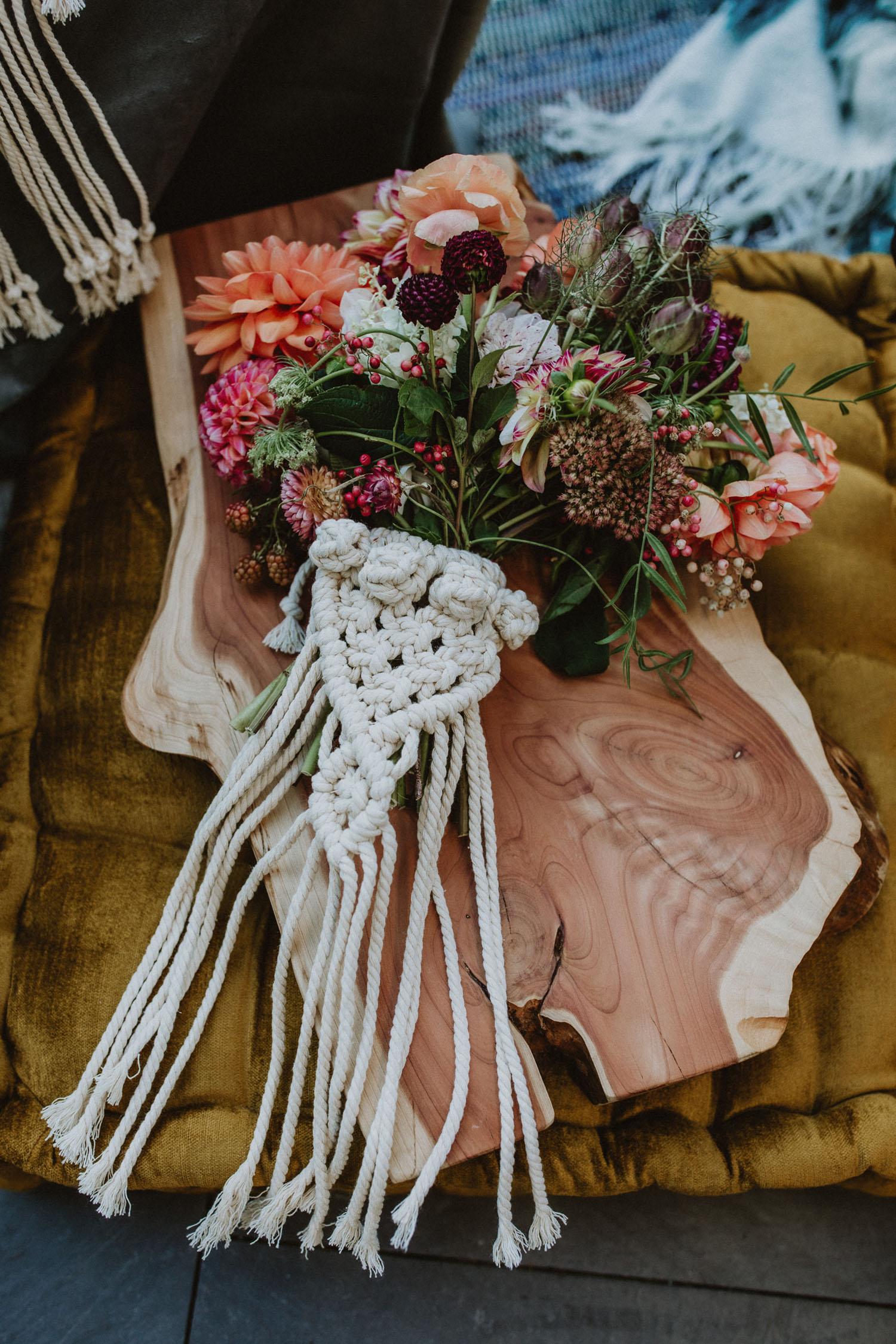 Macrame Bouquet Holder