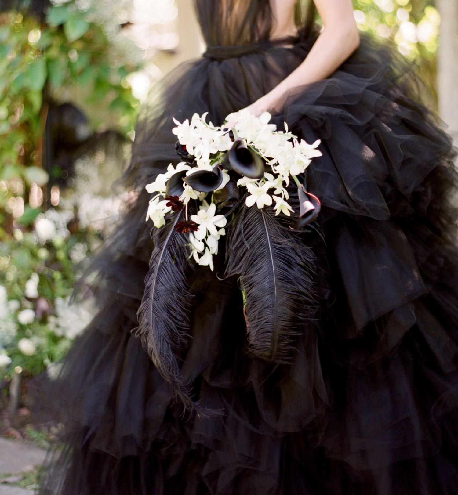 black feather bouquet