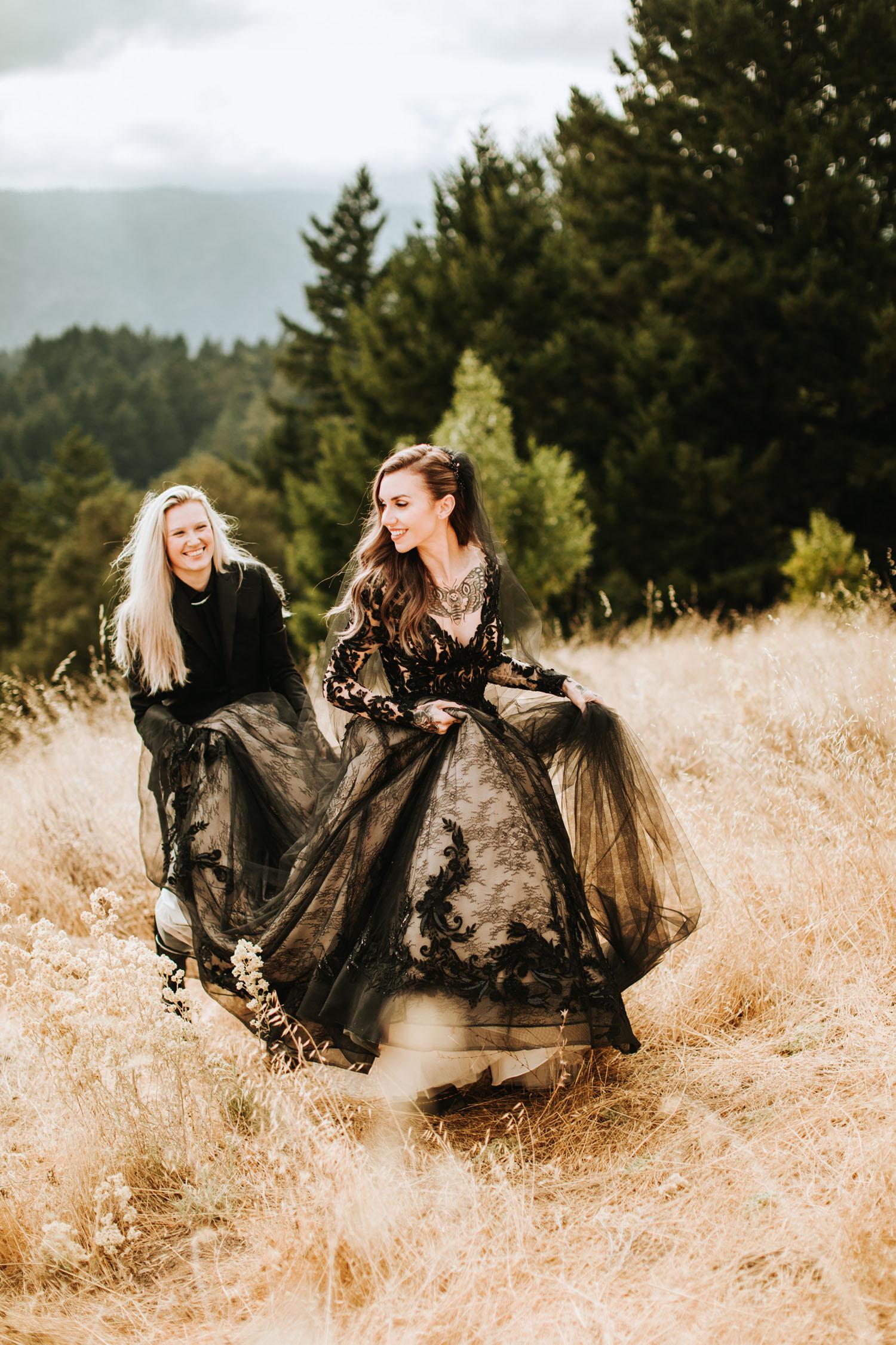 Maggie Sottero black wedding dress