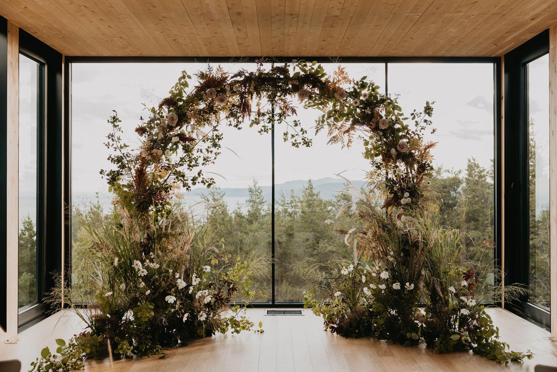 Fall floral circle backdrop