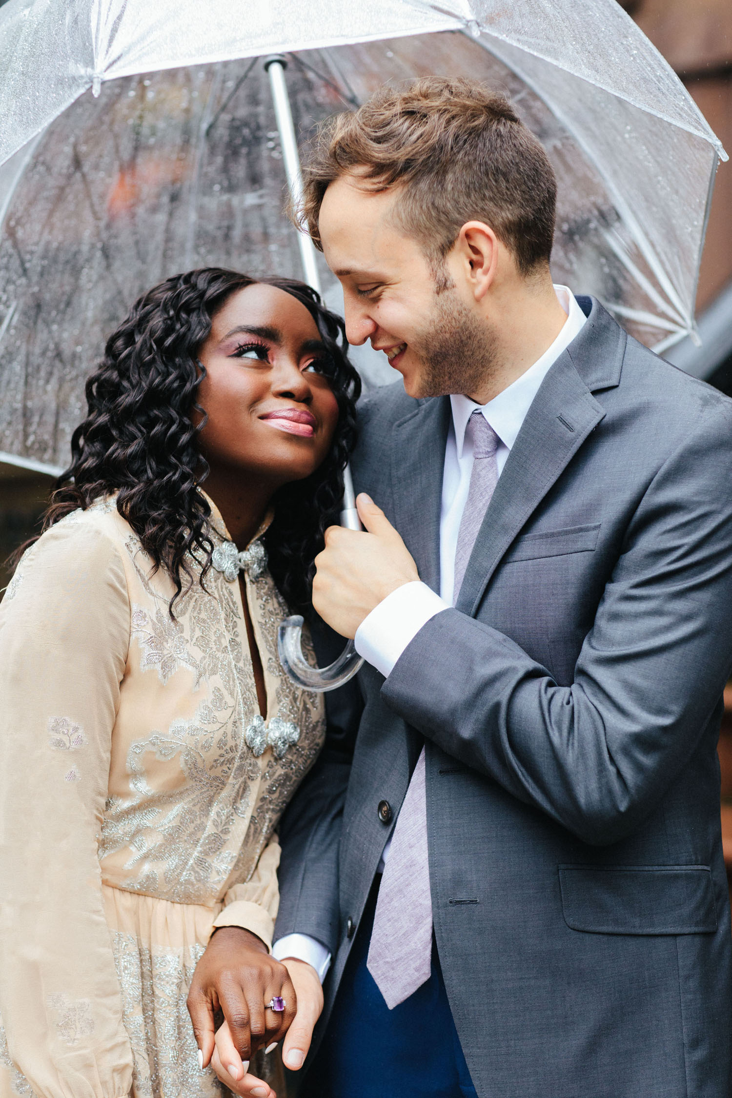 Regnerisches Brooklyn Elopement