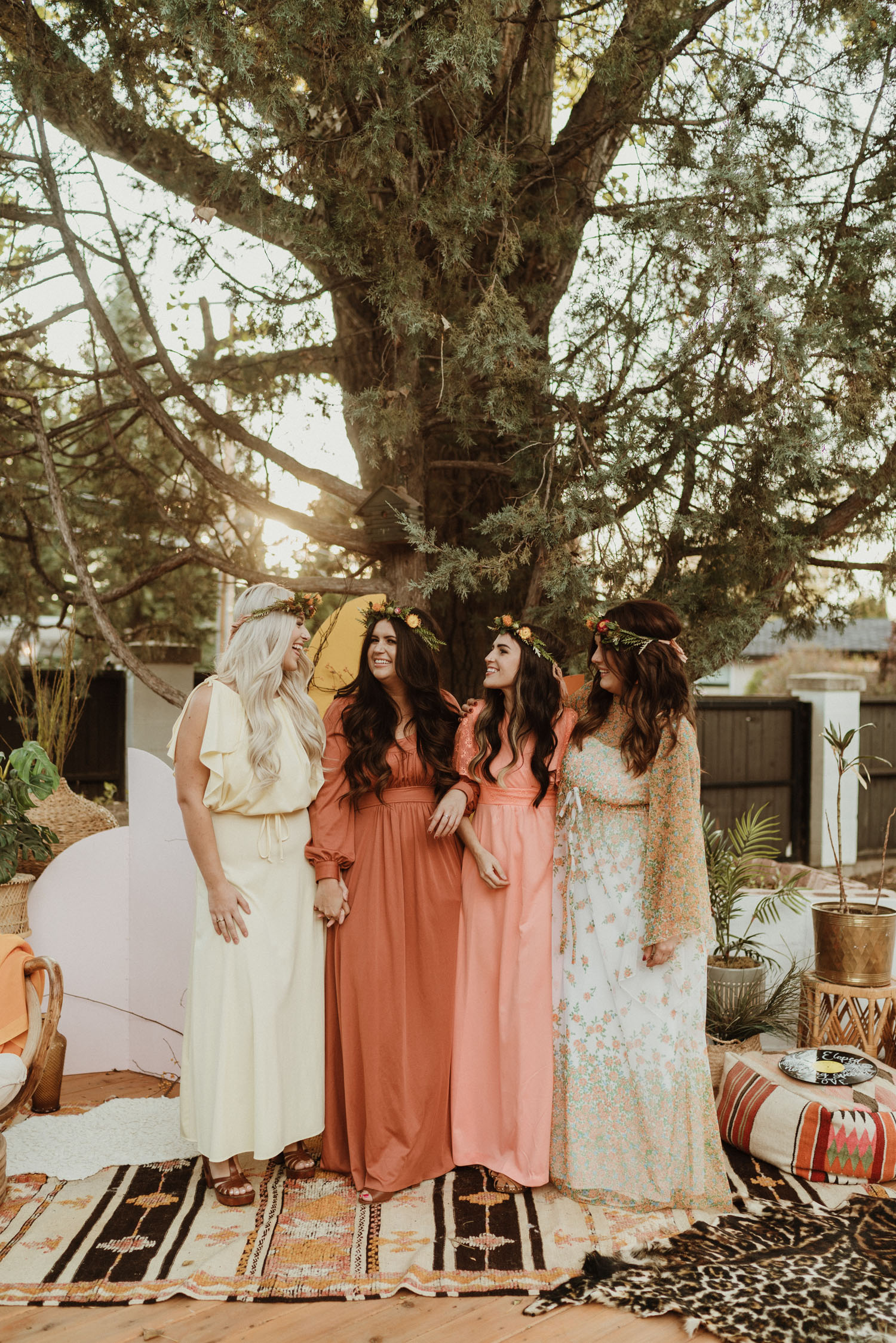 Retro Inspired Bridesmaids