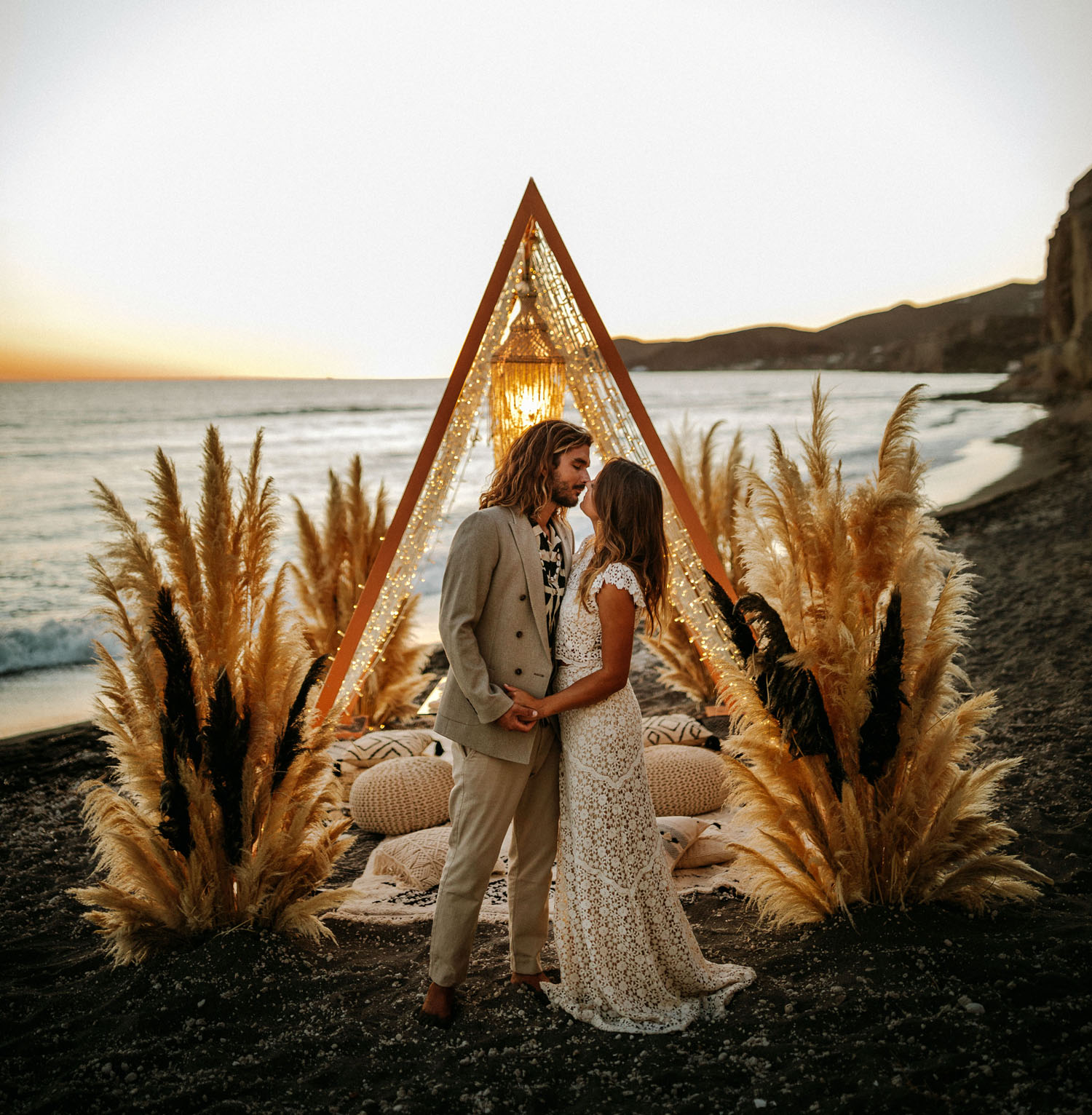boho-chic surfer wedding