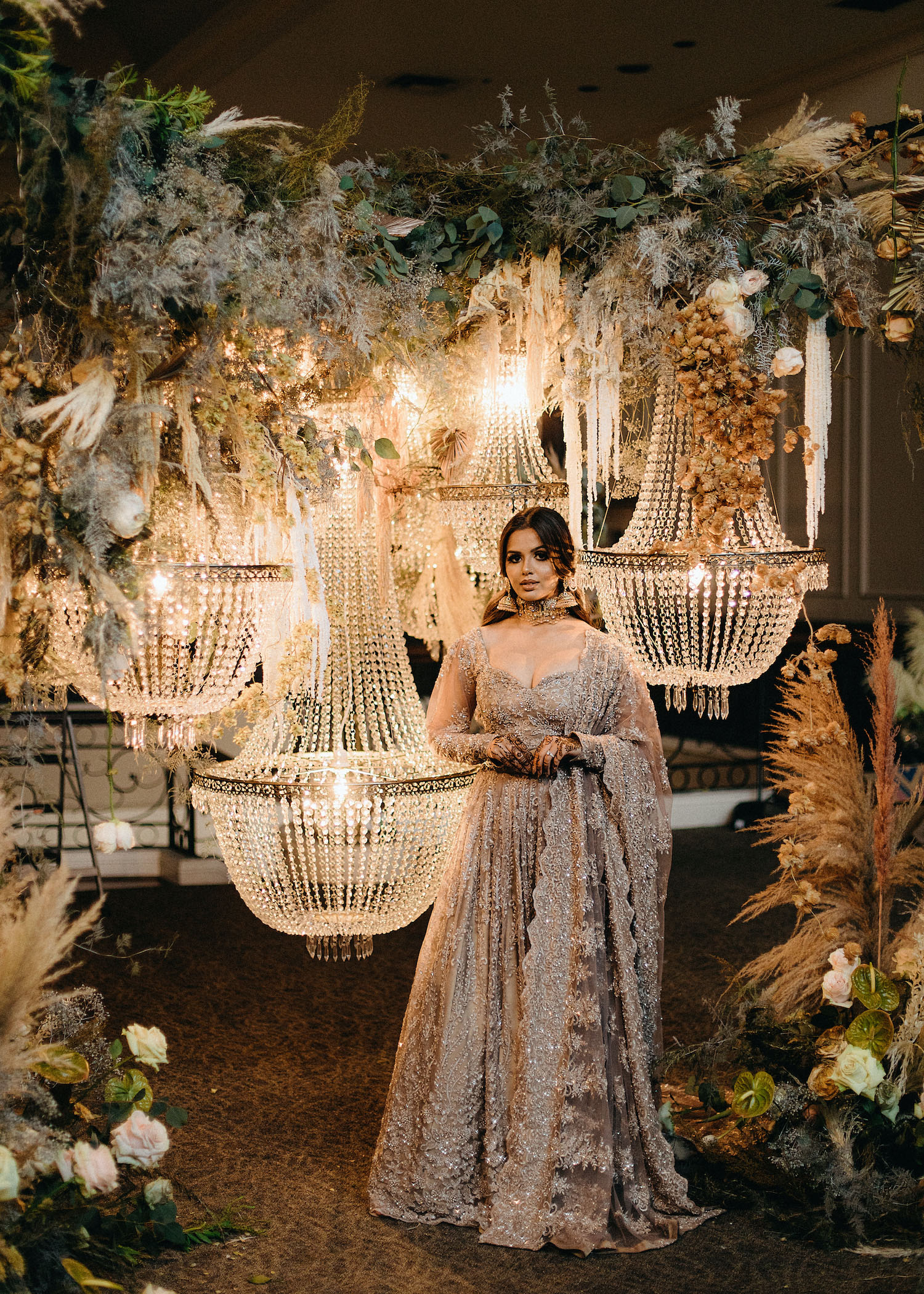 Gold Wedding Dress Bride