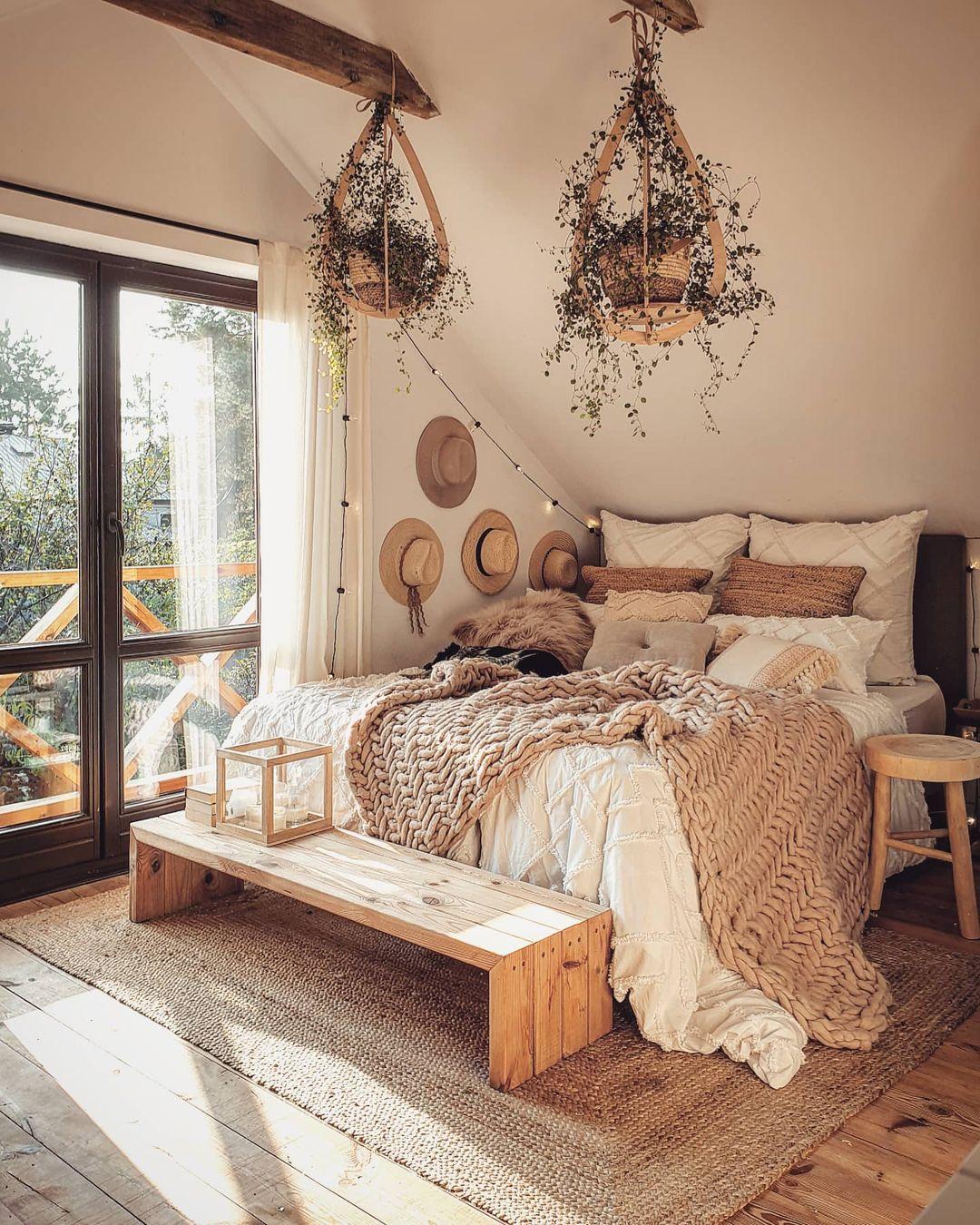 gemütliches Boho Schlafzimmer