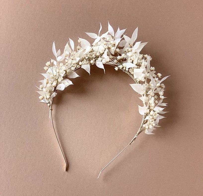 bandeau à fleurs séchées