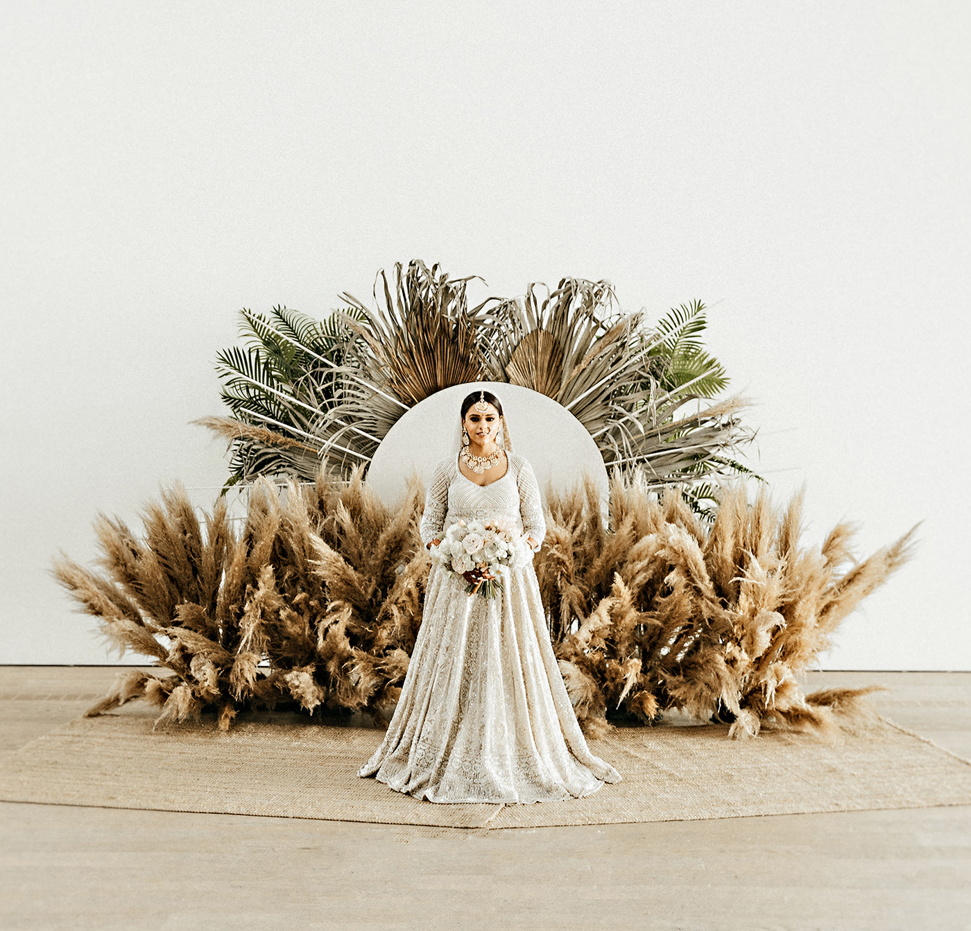 dried palms backdrop